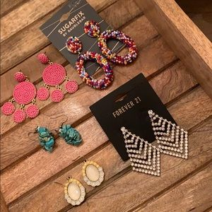 NWT SugarFix by BaubleBar Earring Lot